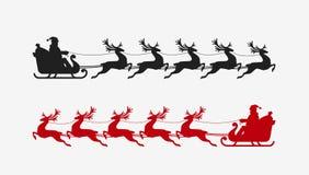 Het rendiersilhouet van de kerstmanar Kerstmissymbool vector illustratie