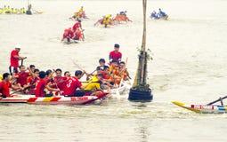 Het rennen bootvakantie Stock Foto