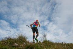 Het rennen in de bergen Stock Foto