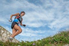 Het rennen in de bergen Royalty-vrije Stock Fotografie