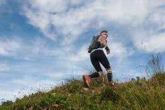 Het rennen in de bergen Royalty-vrije Stock Foto's
