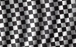 Het rennen en verzamelingsauto geruite vectorvlag royalty-vrije illustratie