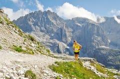 Het rennen in het Dolomiet royalty-vrije stock foto's