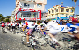 Het Rennen MTB. Manavgat Antalya Turkije Royalty-vrije Stock Afbeeldingen