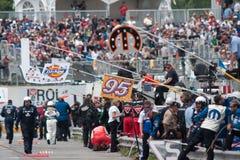 Het rennen NASCAR Stock Foto's