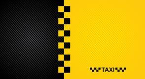 Het rennen oranje achtergrond, de dekkingsmalplaatje van de taxicabine Vector10eps Stock Afbeeldingen