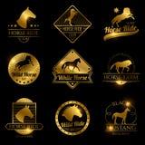 Het rennen paard, lopende merrie vectorwijnoogst royalty-vrije illustratie