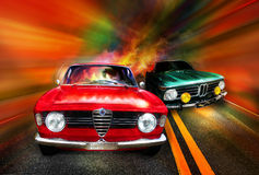 Het rennen van auto's