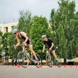 Het rennen van de fiets Royalty-vrije Stock Afbeeldingen