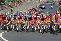 Het rennen van de fiets Stock Foto