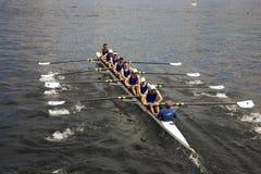 Het rennen van de kano Stock Foto's