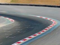 Het Rennen van de motor de Top van de Hoek van het Spoor Royalty-vrije Stock Foto's
