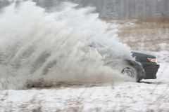 Het rennen van de sneeuw Stock Foto