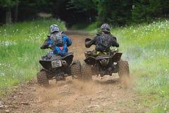 Het Rennen van de Vierling ATV Royalty-vrije Stock Foto's