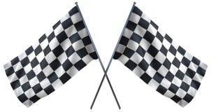 Het rennen van geruite vlag stock illustratie
