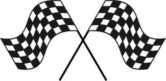 Het rennen van Geruite Vlag voor uw ontwerp of embleem royalty-vrije stock afbeeldingen
