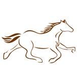 Het rennen van het embleem van het Paard Royalty-vrije Stock Foto's