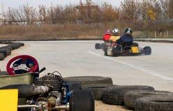 Het Rennen van Kart Royalty-vrije Stock Foto