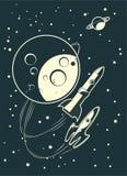 Het rennen van raketten Stock Afbeeldingen