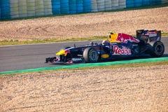 Het Rennen van RedBull van het team F1, Teken Webber, 2011 Stock Afbeeldingen