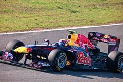 Het Rennen van RedBull van het team F1, Teken Webber, 2011 Royalty-vrije Stock Foto
