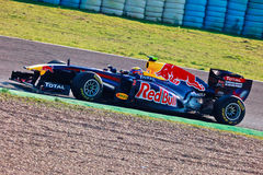 Het Rennen van RedBull van het team F1, Teken Webber, 2011 Stock Fotografie