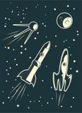 Het rennen van Spaceships Royalty-vrije Stock Afbeeldingen