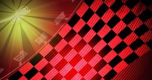 Het rennen vierkante achtergrond, vectorillustratieabstractie in rac Stock Foto