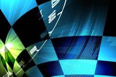 Het rennen vierkante achtergrond, vectorillustratieabstractie in rac Royalty-vrije Stock Foto's