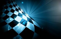 Het rennen vierkante achtergrond, vectorillustratieabstractie in rac Stock Foto's