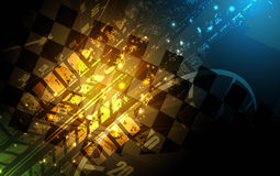 Het rennen vierkante achtergrond, vectorillustratieabstractie in rac Royalty-vrije Stock Foto
