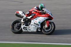 Het Rennende Team Barni van Baiocco Ducati 1098R van Matteo Royalty-vrije Stock Afbeeldingen