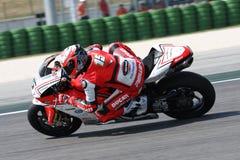 Het Rennende Team Barni van Baiocco Ducati 1098R van Matteo Stock Fotografie