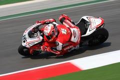 Het Rennende Team Barni van Baiocco Ducati 1098R van Matteo Royalty-vrije Stock Fotografie