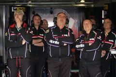 Het Rennende Team van Dall'Igna Aprilia RSV4 Aprilia van Gigi Stock Afbeelding