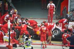 Het Rennende Team van Ferrari Marlboro Formule 1 van Scuderia Stock Afbeeldingen