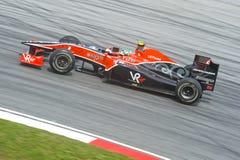 Het Rennende team van virgn-Cosworth Formule 1 Stock Foto's