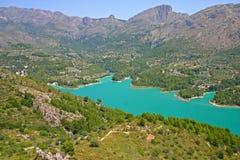 Het reservoir Guadelest stock foto's