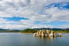 Het reservoir of Puerto Pena van Garcia Sola in Badajoz Stock Foto
