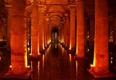 Het Reservoir van de basiliek in Istanboel royalty-vrije stock afbeeldingen