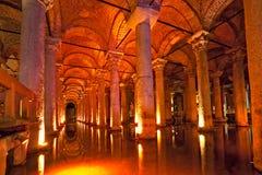 Het Reservoir van de basiliek, Istanboel, Turkije. Stock Afbeelding