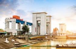 Het Reservoir van de drie Klovendam stock foto