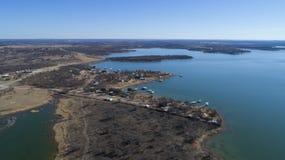 Het Reservoir van de Hubbardkreek, TX Royalty-vrije Stock Fotografie