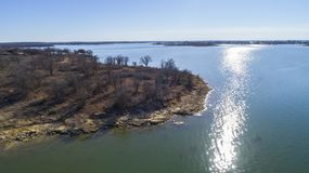Het Reservoir van de Hubbardkreek, TX Stock Fotografie