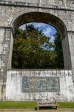Het Reservoir van guaamoreiras van Mãed'㠁 - de Watertempel Royalty-vrije Stock Afbeelding