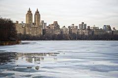 Het Reservoir van het Central Park Stock Afbeelding