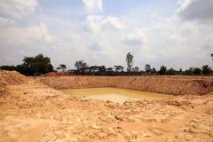 Het reservoir van het irrigatiewater Stock Afbeelding