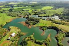 Het Reservoir van het Water van Kapai op Kauai, Hawaï, de V.S. Stock Foto