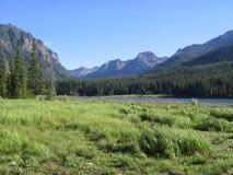 Het Reservoir van Hyalite & Mtn Mening 1 Royalty-vrije Stock Foto
