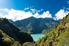 Het Reservoir van Jvarienguri Dzhvara Ingury stock foto's
